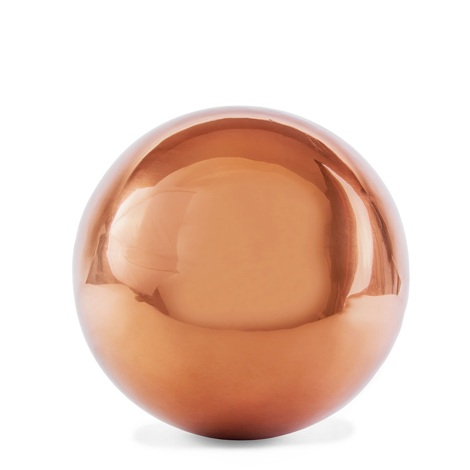 Polished Copper Stainless Steel 9cm Garden Sphere Gazing