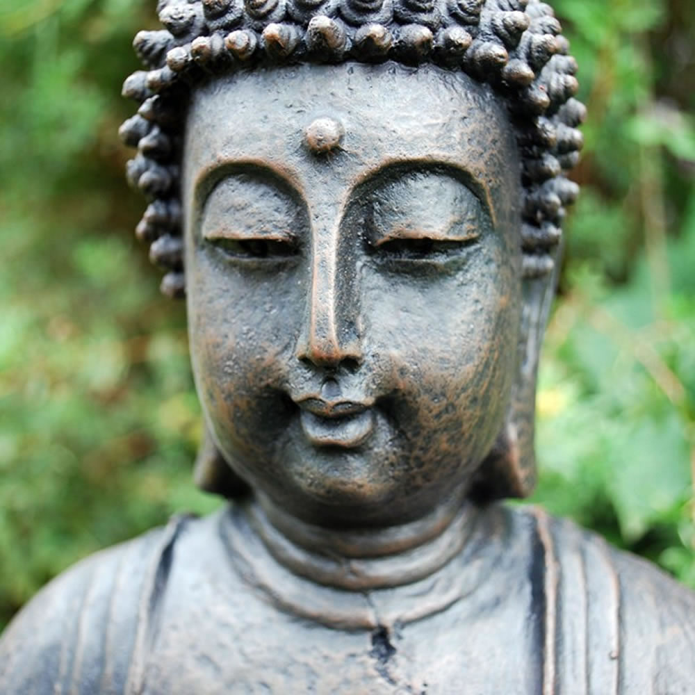Large Detailed Stone Look Resin Buddha Statue Ornament 163