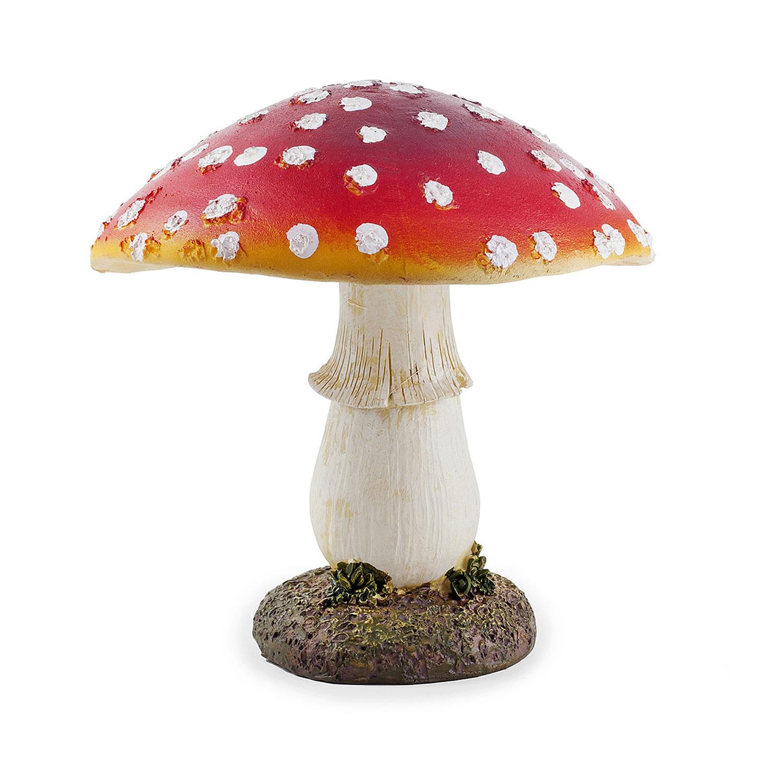 Large Red Resin Mushroom Toadstool Garden Ornament 17cm