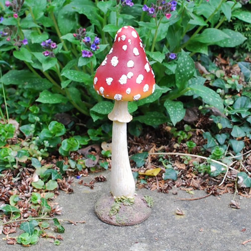 Large Tall Pointed Resin Mushroom Toadstool Garden