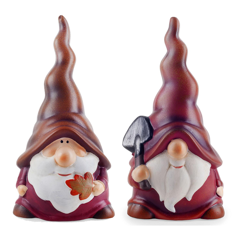 Gnome 4: Austin & Basil The Autumnal Terracotta Garden Gnome