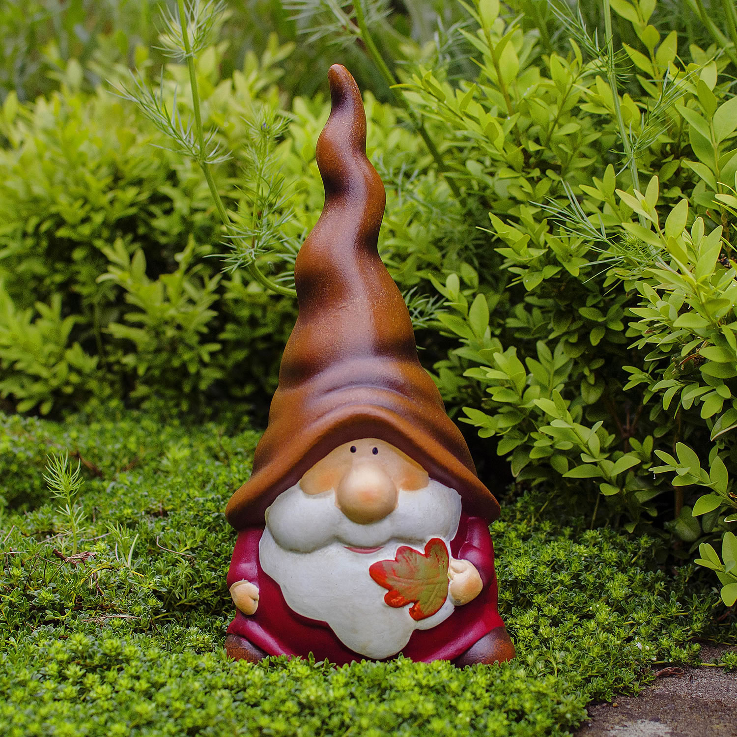 Gnome In Garden: Austin The Autumnal Terracotta Garden Gnome Ornament With