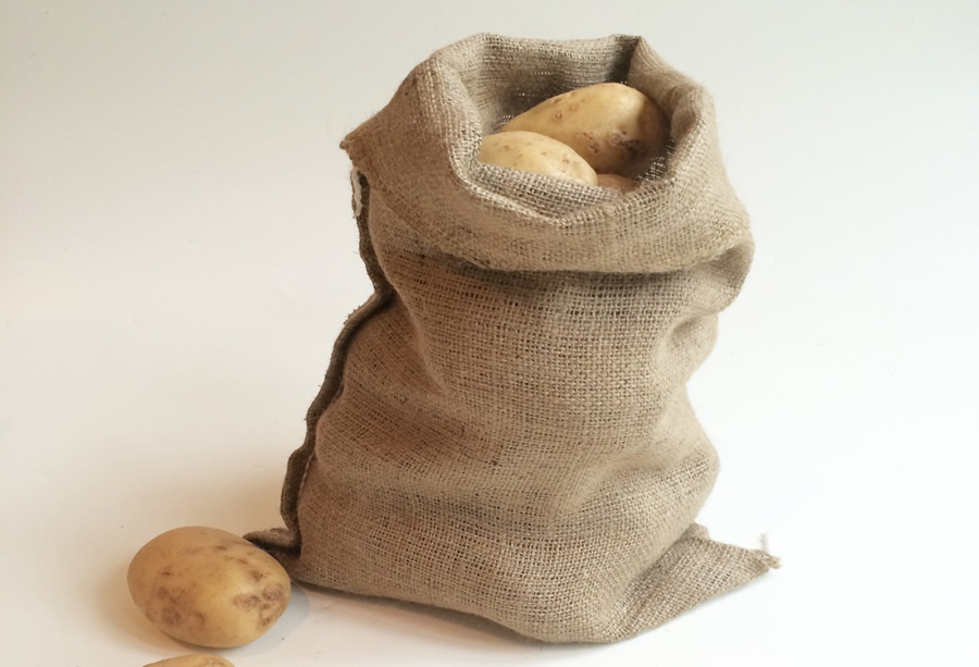 5 hessian sacks 30 x 45cm jute potato vegetable storage bags 7 5