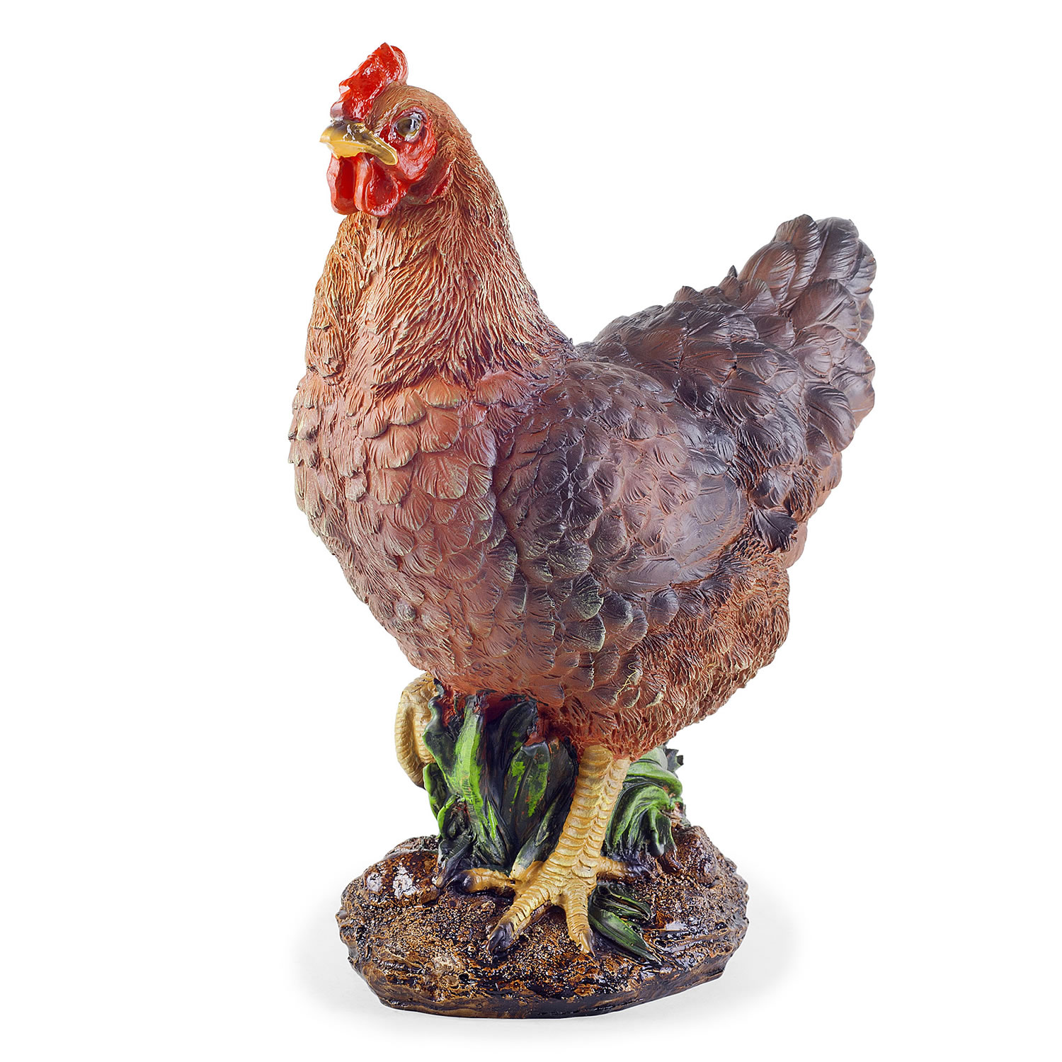 Nutmeg The Realistic Resin Standing Brown Hen Chicken
