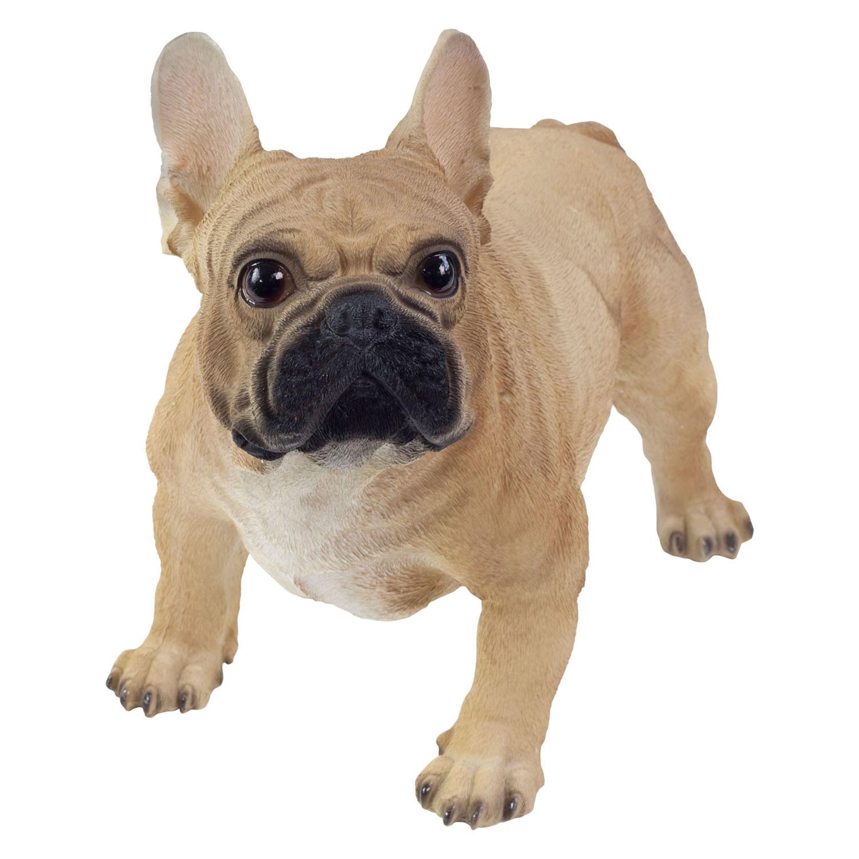 Realistic Standing Brown French Bulldog Statue Ornament ...