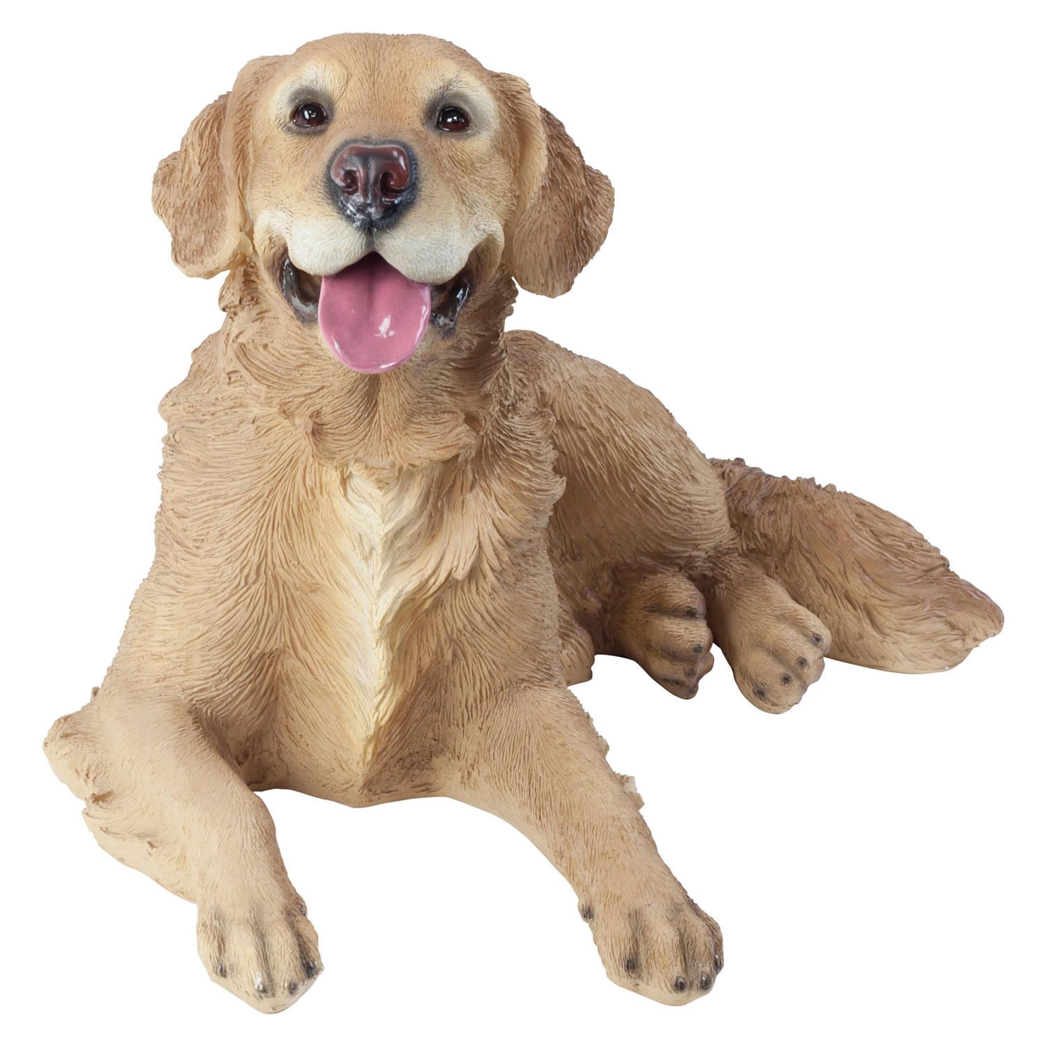 Large Realistic Laying Golden Retriever Dog Statue Garden Ornament   £99.95  | Garden4Less UK Shop
