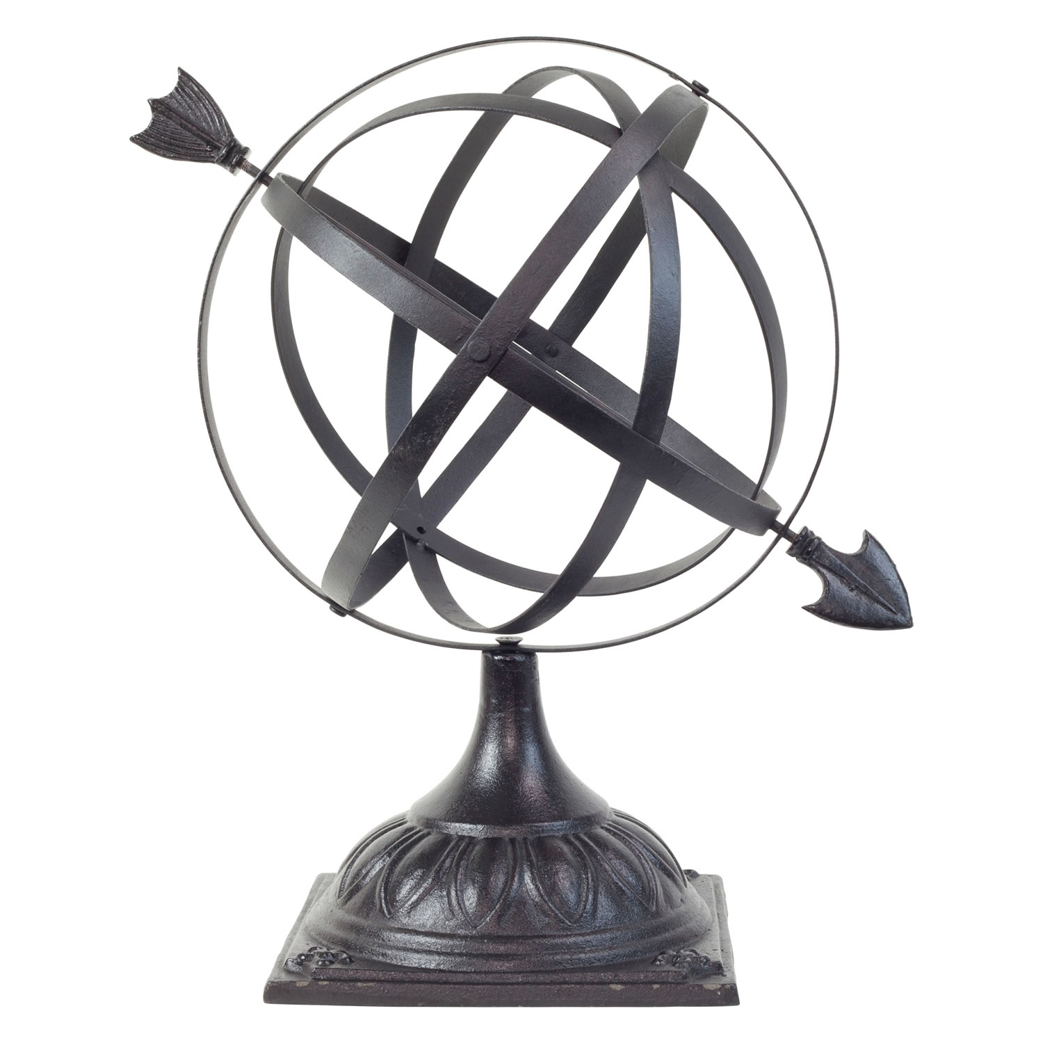 Large Black Cast Iron Decorative Armillary Sphere Garden