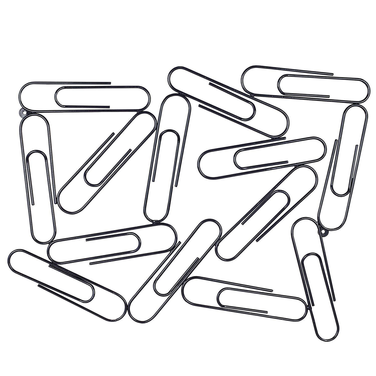 Giant Black Metal Paper Clip Wall Mountable Memo Note And