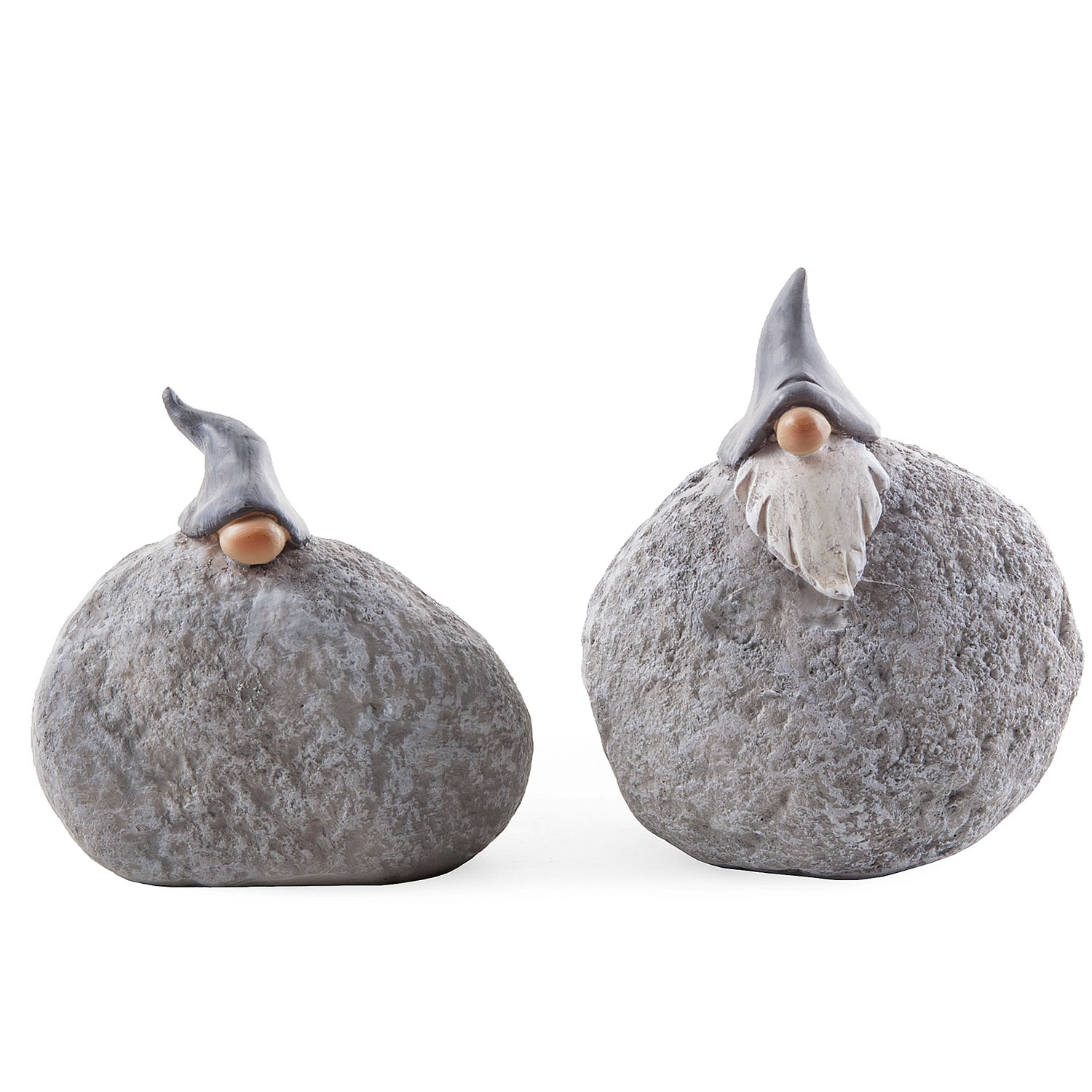 Set of two unusual rockery gnome garden ornaments for Quirky ornaments