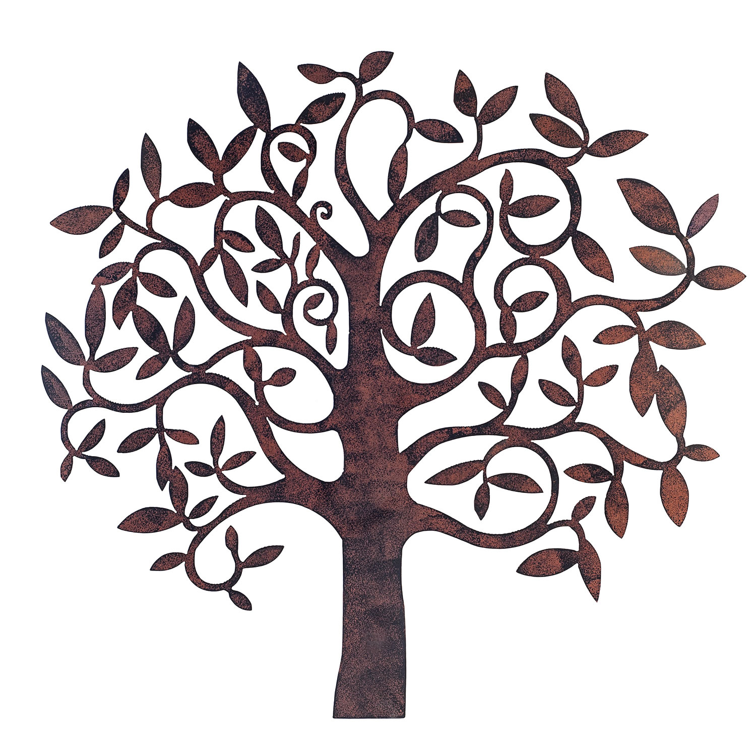 Large Rusty Finish Metal Tree Garden Or Home Wall Art Garden4Less