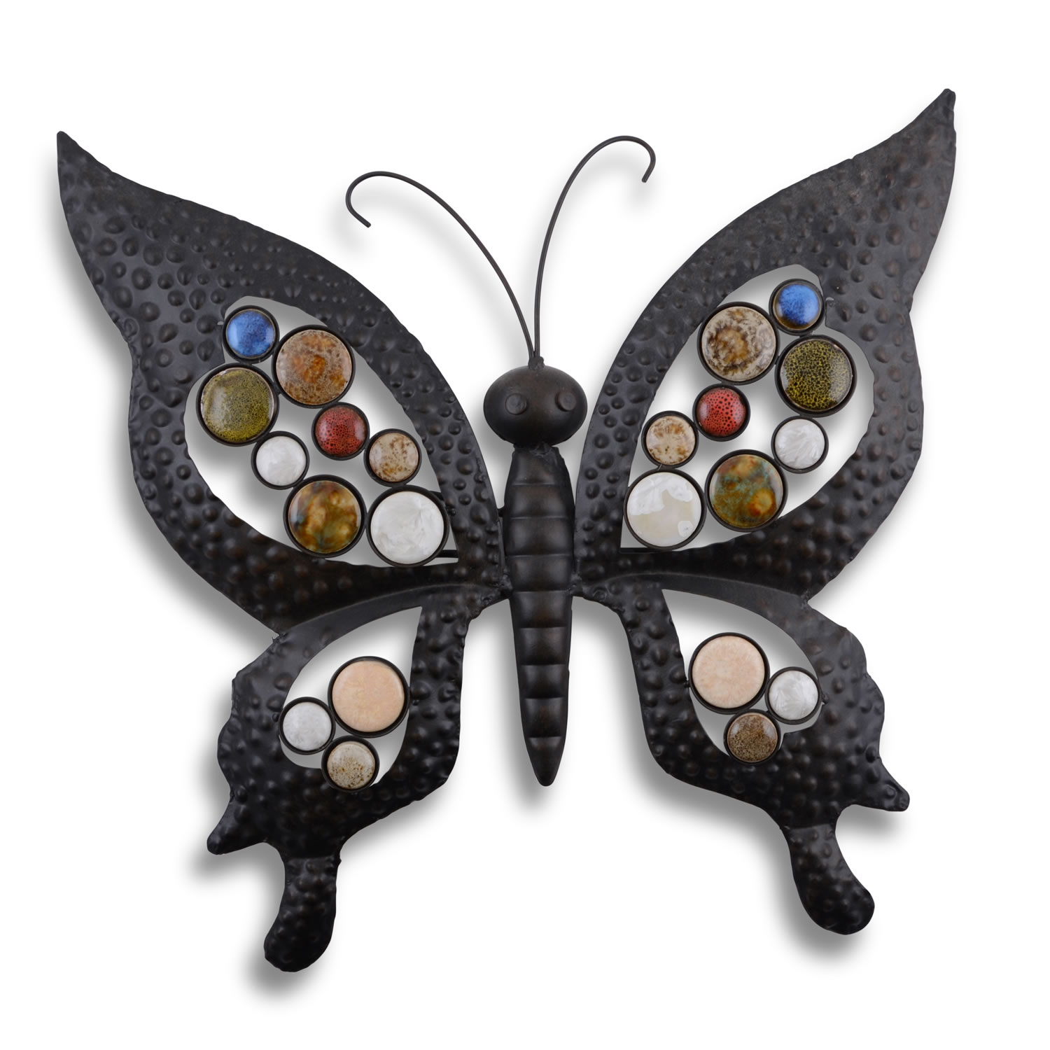 Metal butterfly garden wall art feature ornament for for Outdoor butterfly ornaments