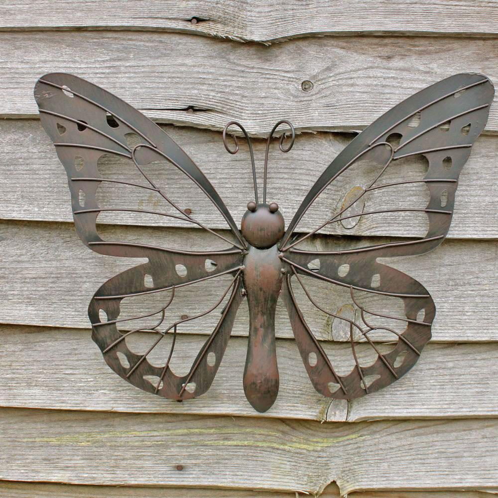 Large decorative metal butterfly garden wall art 25 3 for Garden wall art