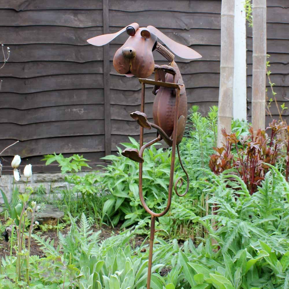 Rocking Metal Dog Garden Ornament - £24.95 | Garden4Less ... on Backyard Ornaments id=83243