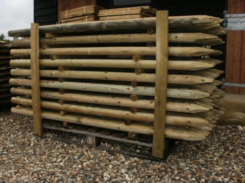 10 1 8m 6ft X 60mm Pressure Treated Machine Round Wooden