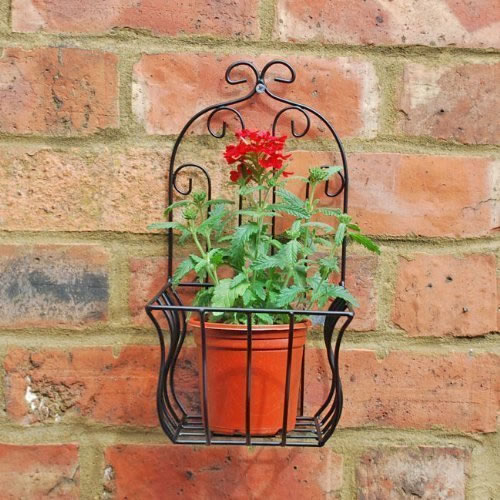 Black Metal Wall Planter Or Pot Holder For The Garden 9 95