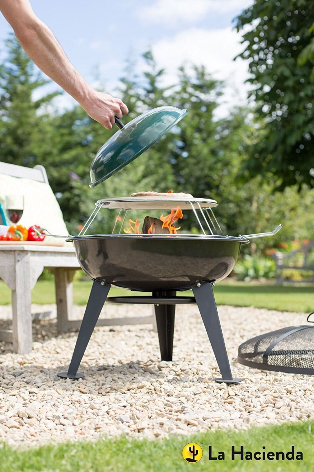 La hacienda pizza firepit garden4less uk shop for Gardening 4 less reviews