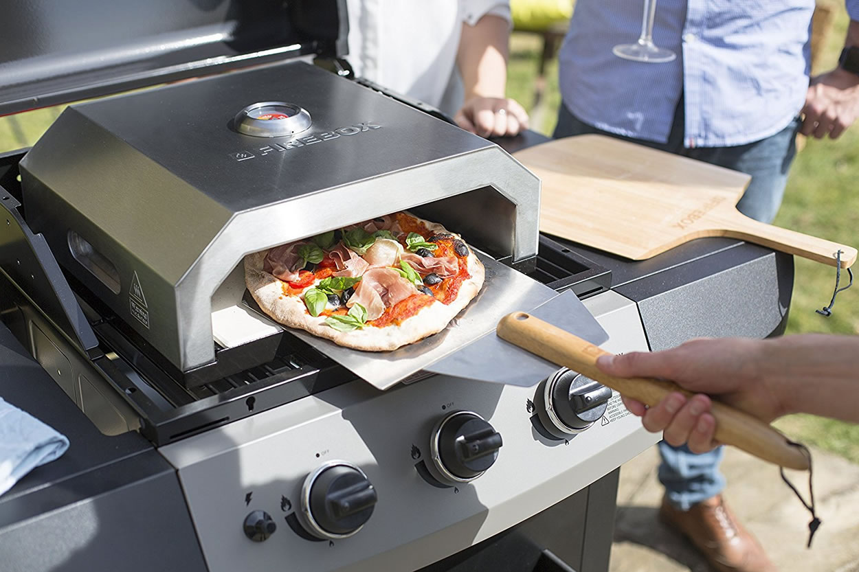 La hacienda firebox bbq pizza oven garden4less uk shop - Forno per pizza casalingo ...