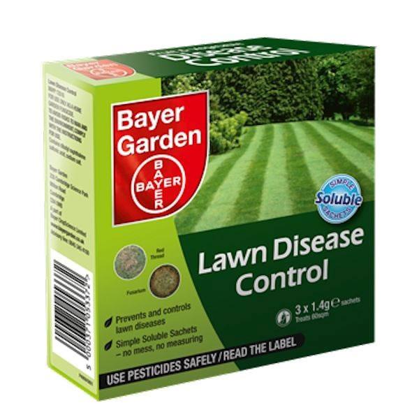 Bayer Lawn Disease Control Soluble Sachets Treats 60sqm
