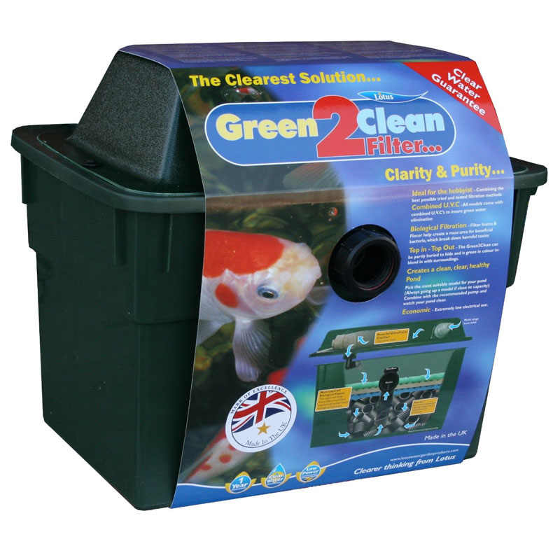 Oasis green 2 clean pond filter 3000 for Cleaning pond filter media