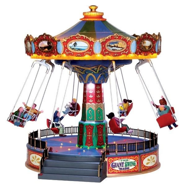 Image of lemax christmas the giant swing ride with 4 5v adaptor