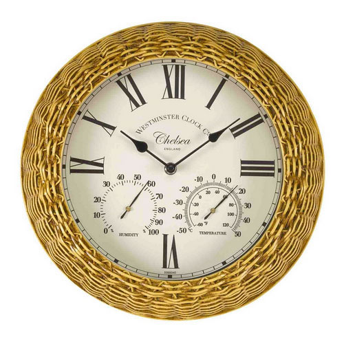 Chelsea Wall Clock And Thermometer 163 27 99 Garden4less