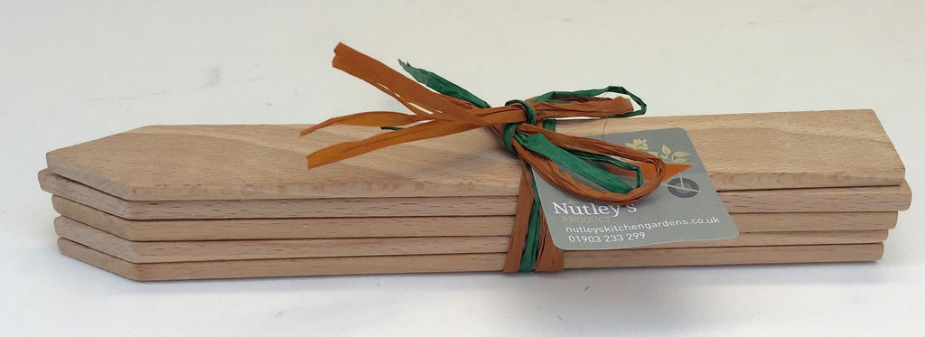 Nutley 39 s small wooden plant labels pack of 5 garden tools for Small garden tools set of 6