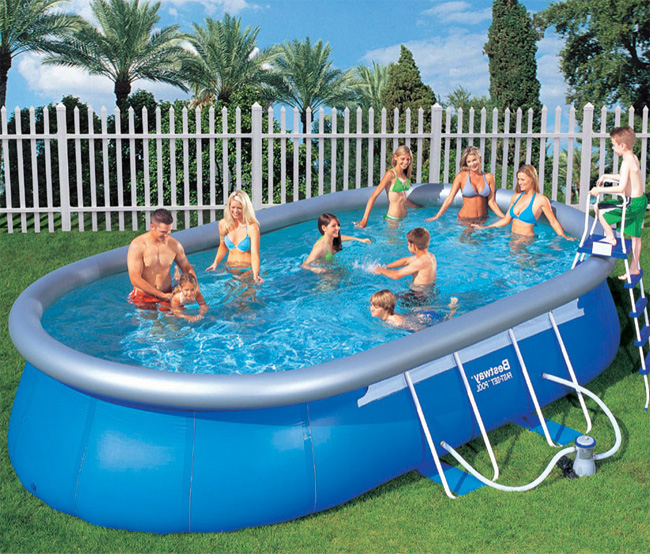 bestway 20ft x 12ft x 48 oval fast set above ground pool with filter pump and accessories. Black Bedroom Furniture Sets. Home Design Ideas