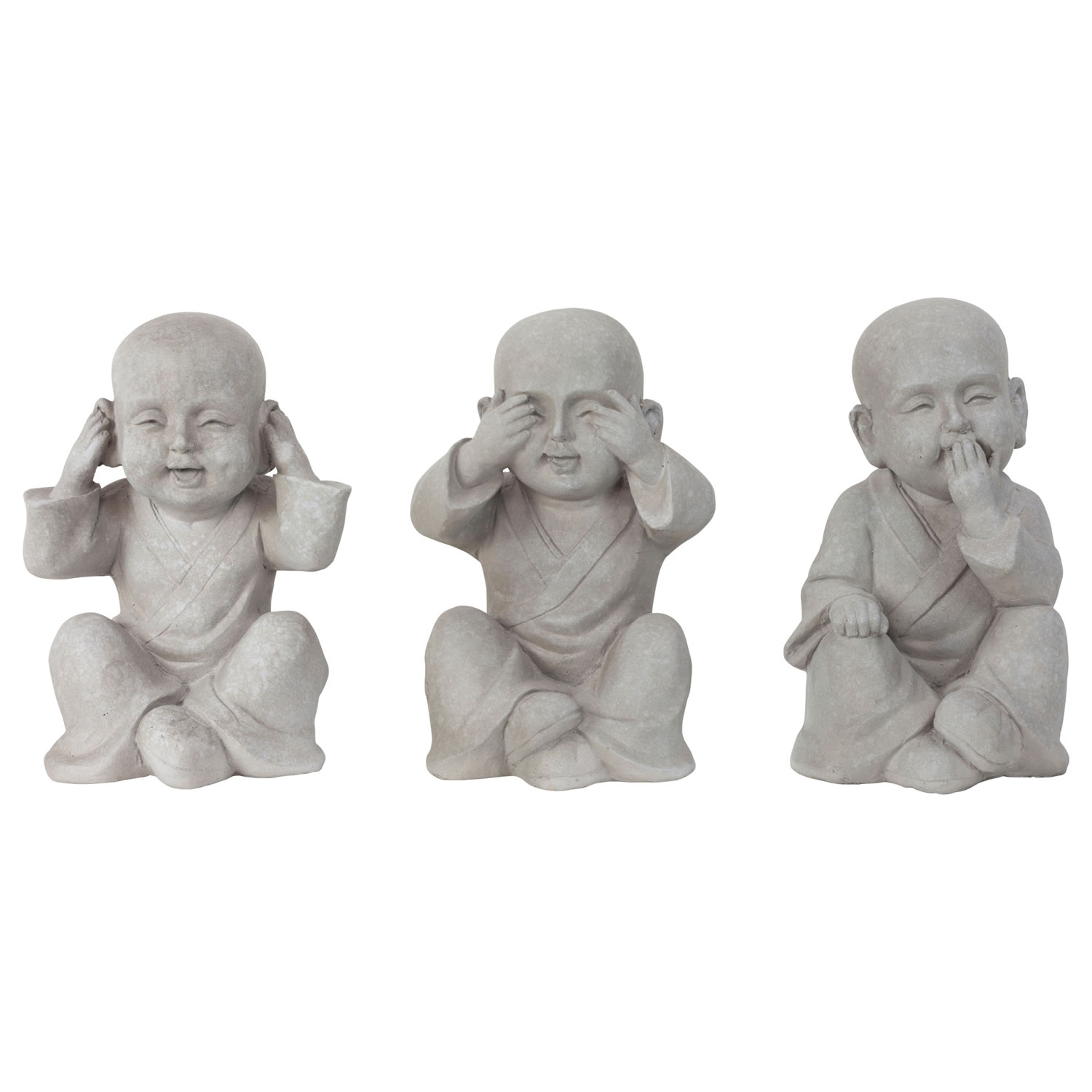 See Hear Amp Speak No Evil 30cm Shaolin Monk Garden