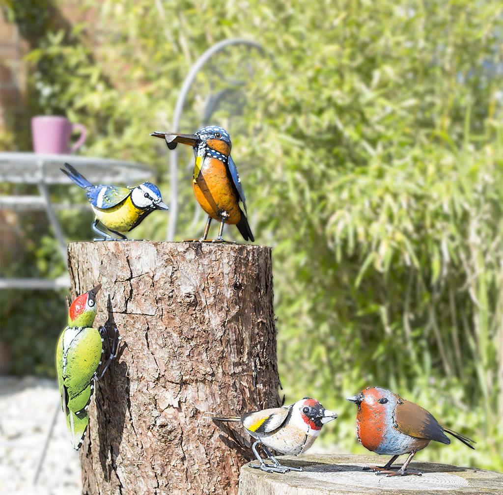 6 Assorted British Birds Garden Ornaments - £32.99 ... on Backyard Ornaments id=54631