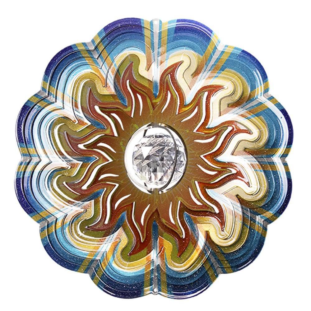 Iron Stop Designer Crystal Sun Wind Spinner 10in Garden Feature ...