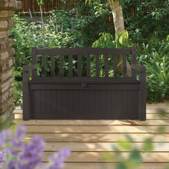 Keter Eden Garden Bench With Storage Garden4less Uk Shop