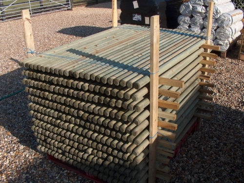 10x 1 8m x 50mm Round Wooden Fence Posts