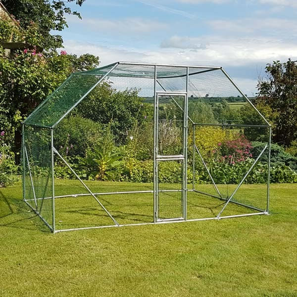 2m x 3m walk in galvanised cage garden4less uk for Cage lapin exterieur