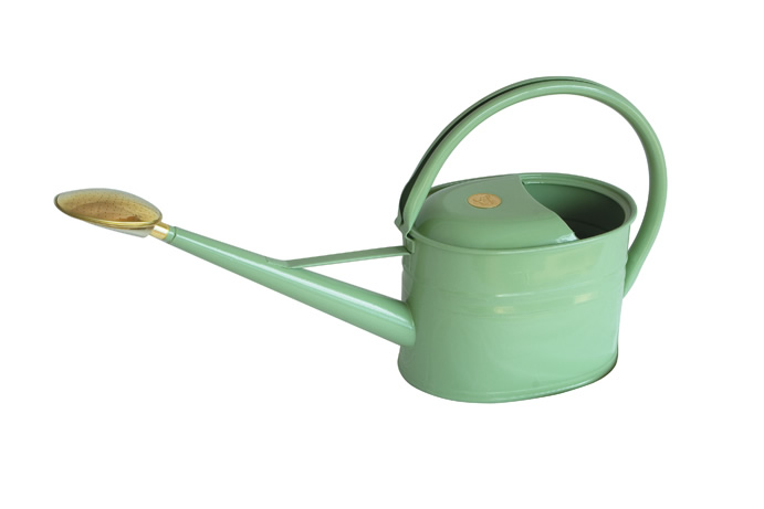 Haws 5l Metal Slimcan Outdoor Watering Can In Sage Green