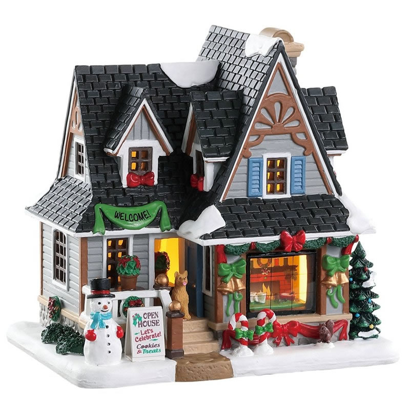Lemax Christmas.Lemax Christmas Village Holiday Open House Battery Operated 85352