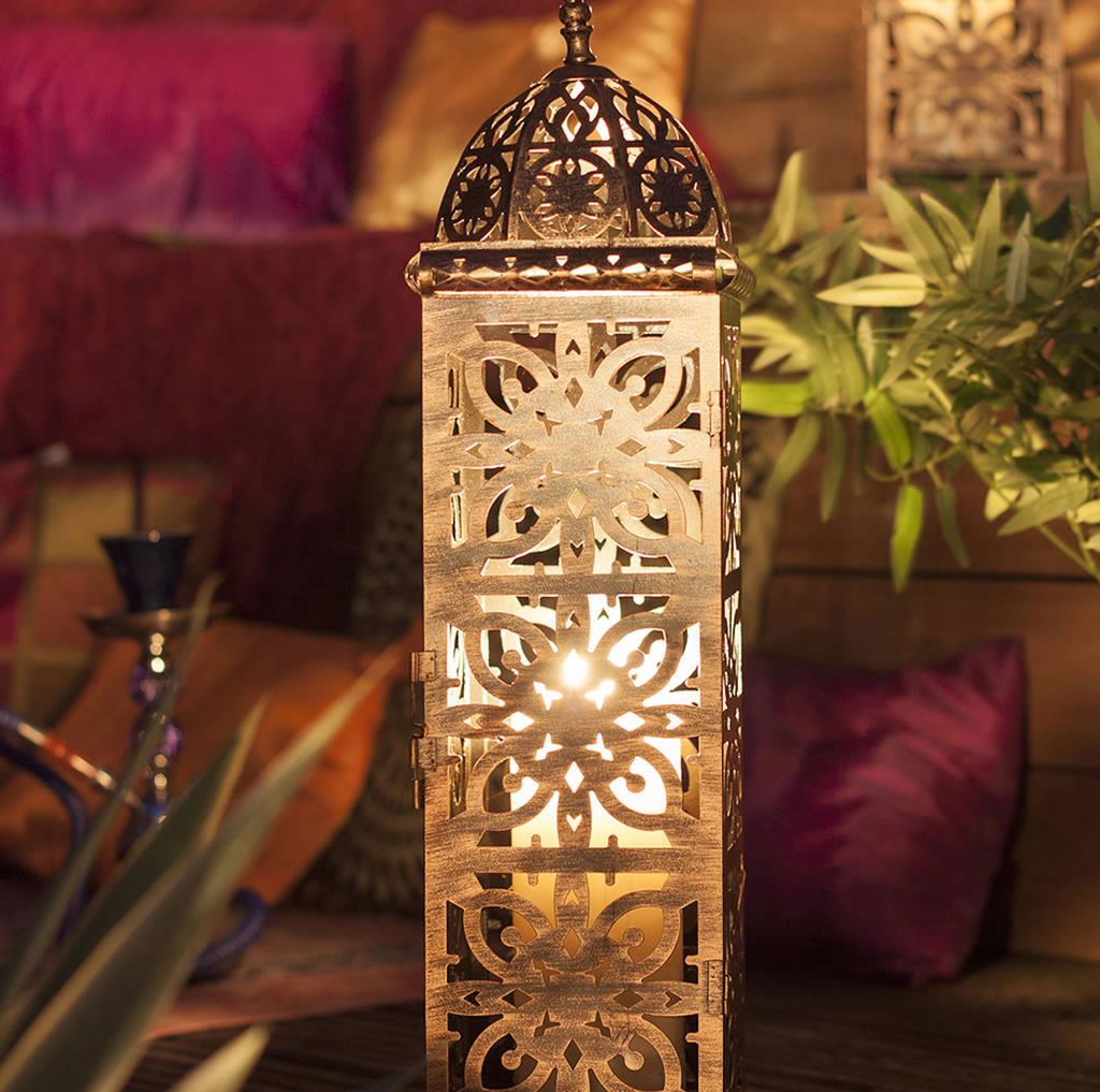 Modern Moroccan Lantern Large 163 29 99 Garden4less Uk Shop
