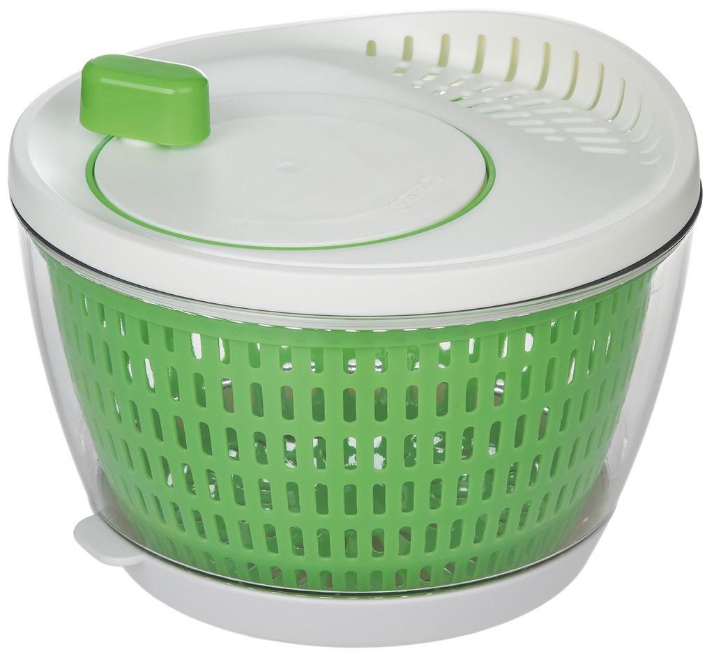 Progressive flow through salad spinner £
