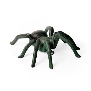 Image of Large Verdigris Cast Iron Wall Mountable Tarantula Spider Ornament