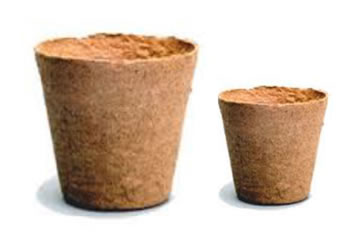 Image of 100 Mixed Jiffy 6cm & 8cm Peat Free Fibre Plant Pots - 50 each