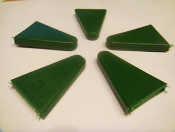 Image of 50x Rubber Triangle Pointed Cane Caps Canetoppers