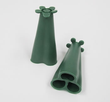 Image of 10 Pyramid Rubber Cane Caps Cane-toppers