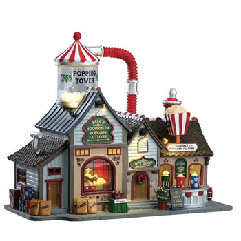 Image of Lemax Christmas Village - Bell's Gourmet Popcorn Factory (75188-UK)