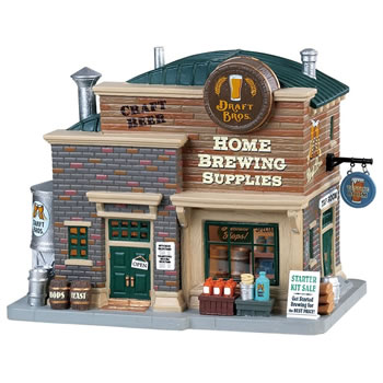 Image of Lemax Christmas Village - Draft Bros Home Brewing Supplies - Battery Operated (85329)