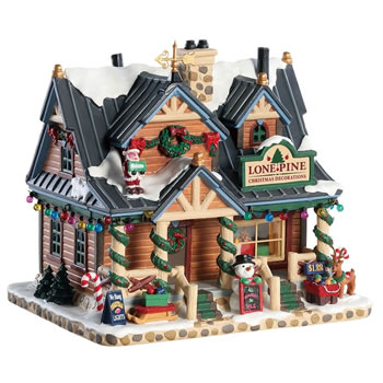 Image of Lemax Christmas Village - Lone Pine Christmas Decorations - Battery Operated (85323)