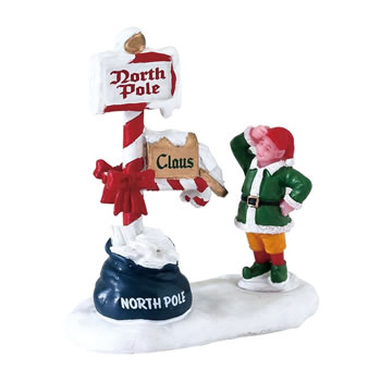 Image of Lemax Christmas Village - Merry Mailbox Figurine (72570)