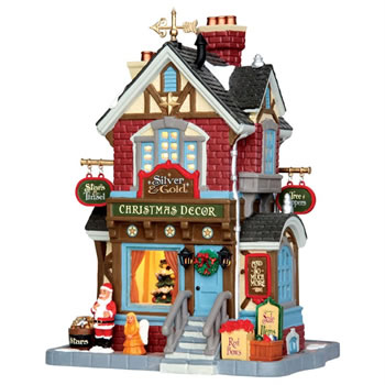 Image of Lemax Christmas Village - Silver & Gold Shop - Battery Operated (45699)
