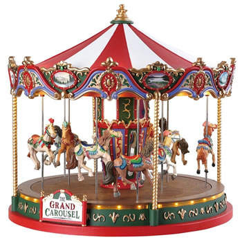 Image of Lemax Christmas Village - The Grand Carousel - 4.5V Adapter (84349)