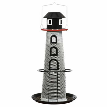 Image of No/No Solar Powered LED Lighthouse Wild Bird Feeder