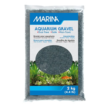 Image of Marina Decorative Aquarium Gravel Black 2kg