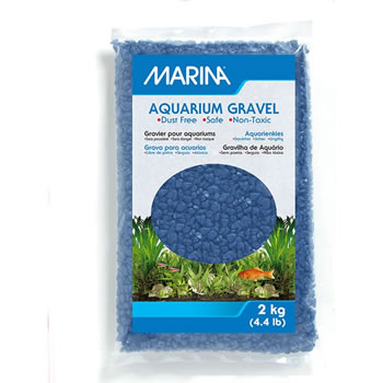 Image of Marina Decorative Aquarium Gravel Blue 2kg